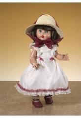 Mariquita Pérez Vestito bianco e porpora