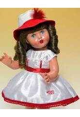 Vestido Shantu Blanco y Rojo