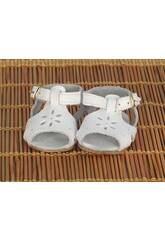 Sandalettes Cuir Blanches