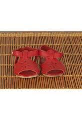Sandalettes Cuir Rouge