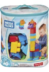 Mega Blocks Bolsa Azul 80 Piezas Mattel DCH63