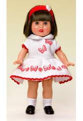 Mini Mariquita Pérez Robe Pique Blanc et Rouge
