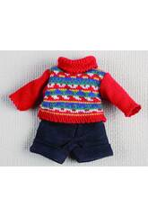 Mini Navy Shorts und rotes Jersey