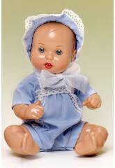 Mini Juanin Bebé Capota Organdi Azul Celeste
