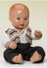 Mini Juanin Baby grüne Hose und gestreifte Jacke