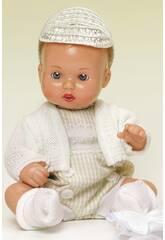 Mini Juanin Bebé Pelele Vichy Beige con Gorra