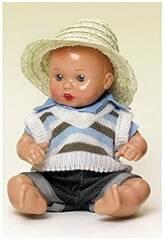 Mini Completo Jeans e Maglioncino a righe