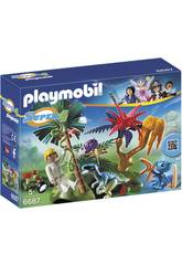 Playmobil Ile Perdue avec Alien et Vélociraptor