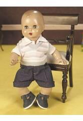 Juanin Pérez Bebé Conj Colete Rosa e Calças Curtas Jeans