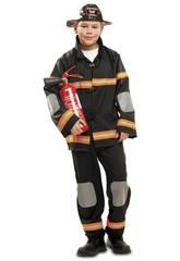 Costume Ragazzo XL Pompiere Nero