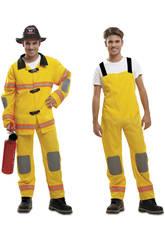 Disfraz Hombre L Bombero Amarillo