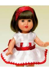Mini Vestito Shantung Bianco e Rosso