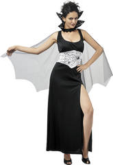 Kostüm Schwarze Spinne Umhang Frau Größe XL