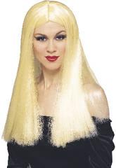 Perruque de sorcière blonde