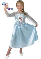 Costume Bimba Elsa Classic con Microfono L Rubies 620284-L