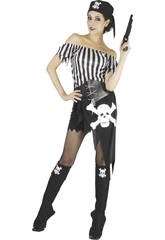 Disfraz Bucanera Calavera Mujer Talla XL