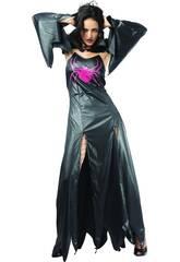 Fantasia Aranha Negra Gótica Mulher Tamanho L