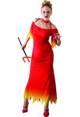 Disfraz Demonia Mujer Traje Largo Talla L