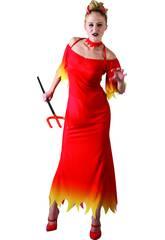 Disfraz Demonia Mujer Traje Largo TallaXL