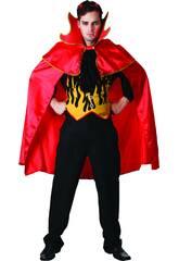 Disfraz Demonio Capa Roja Hombre Talla XL