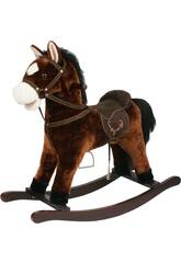 Peluche Bascule Cheval Marron Son