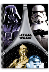 Star Wars Flash - Quaderno a spirale A4 80 fogli