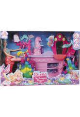 Bambola Sirena 30 cm con Toeletta Trucco e Accessori