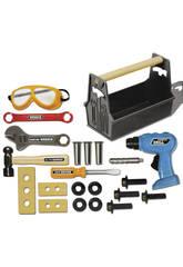 Caja de herramientas de 22 piezas con taladro