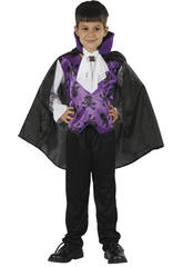 Disfraz Vampiro Lila Niño Talla S