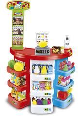 Supermarché avec accessoires 38 Pièces et Scanner Electronique 80 x 50 cm