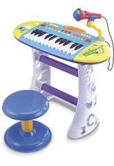 Instrument de Musique Piano avec Banquette Bleu