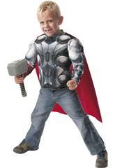 Disfraz niño Thor Av2 Musculos y Martillo Talla M Rubies 31484
