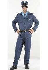 Maschera Poliziotto Blu Uomo Taglia XL