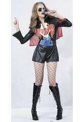 Disfraz Estrella del Rock Mujer Talla XL