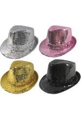 Sombrero Lentejuelas Gangster 4 Surtidos