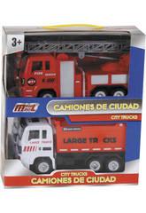 Set Camion Pompier et Camion à Benne à Propulsion