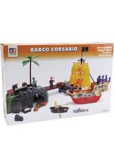 Bateau Pirate avec Figurines et Pont-levis