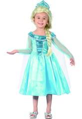 Déguisement Princesse Bleue Bébé Taille M S