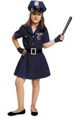 Disfraz Niña M Policía con Gorro