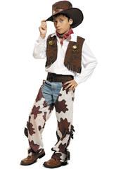 Disfraz Niño L Vaquero Blanco y Marrón con Sombrero