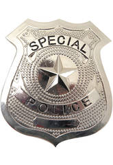 Placca Polizia di metalo 7x6 cm