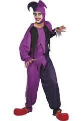 Disfraz Bufón Morado Malvado Hombre Talla XL