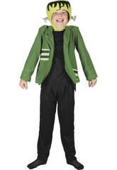 Disfraz Monstruo Chaqueta Verde Tornillos Niño Talla L