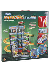 Parking 5 Alturas Transformable 4 Coches y 1 Helicóptero 50x55x90 cm