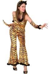 Fantasia Tigresa Selvagem Mulher Tamanho XL