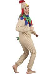 Costume Gallo Marrone Uomo L