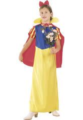 Fantasia Princesa das Neves Capa Menina Tamanho XL