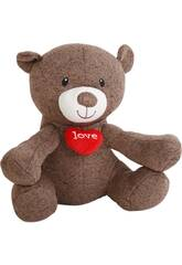 Peluche 35 cm Ours I Love You