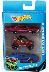 Hot Wheels Pack 3 Coches de Juguete Mattel K5904