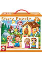 Hansel und Gretel Puzzle Story Educa 14798